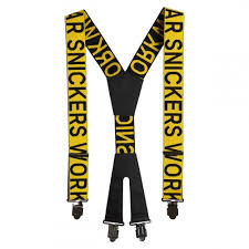 Suspenders With Logo Yellow Black 9064 Snickers Workwear