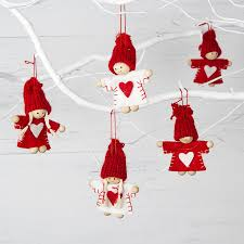 red and white mini christmas tree decoration by the christmas home ...