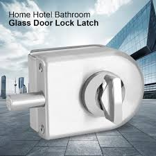 10 12mm stainless steel glass door lock latch rotary knob open close home hotel