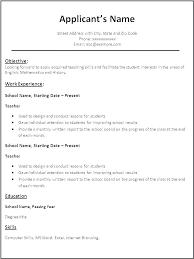 Free Example Resume Templates Sample Teacher Resume Templates Viragoemotion Com