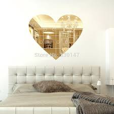 Small Picture Large Unique Wall Mirror Heart Shaped Puzzle Pieces Mural wall