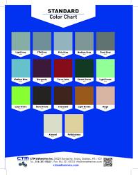 Ctm Epoxy Color Chart Ctm Adhesives Epoxy Base Pigment Packs