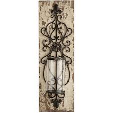 Lydia Pillar Candle Holder Wall Sconce