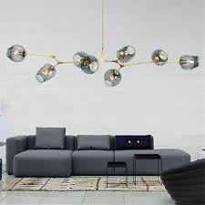 <b>Modern Nordic</b> Ceiling Lights <b>Molecular</b> Glass Pendant Light ...