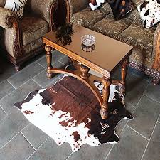 cow print rug 4 3x4 6 feet faux cow hide rug animal printed carpet for