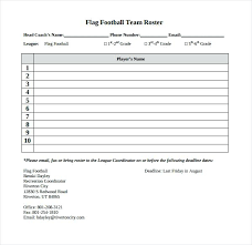 Sports Roster Template Excel Team Software 7 0 Blank Doc