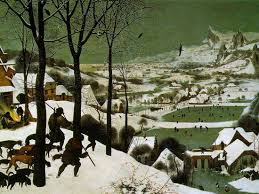 the art of the landscape winter landscape hunters in the snow by  jager im schnee winter hunters in the snow 1565 by pieter bruegel the elder 1525 1569 oil on panel 46 1 8 x 63 7 8 in 117 x 162 cm
