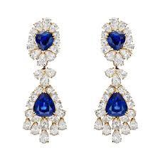 sapphire diamond chandelier earrings