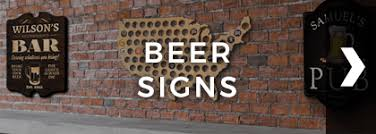 Home bar decor Rustic Beer Signs Beer Signs Savva Home Bar Decor Decorations