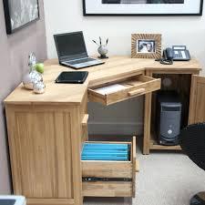 wood corner desk large plans organizer solid home office