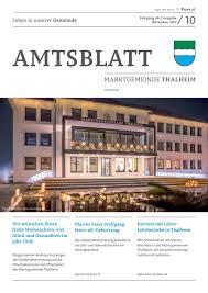 Amtsblatt Thalheim Bei Wels 102017 By Marktgemeinde