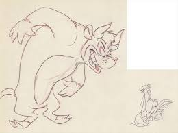 auction.howardlowery.com: 2 M-G-M Tex Avery SEÑOR DROOPY Matching Animation  Drawings of DROOPY + BULL, 1949