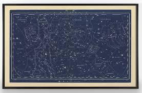Constellation Chart Large Horizontal Constellation Map Chart Print