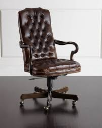 leather desk chair. Blevens Tufted-Leather Office Chair Leather Desk B