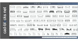furniture cad blocks sofas in plan view