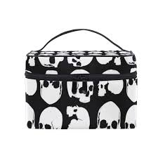 Makeup Case With Lights India Amazon Com Cosmetic Bag Skull Light Greyttravel Makeup