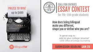 feb sf first bilingual fair news post lycee francais de  essay contest call for entries how does being bilingual