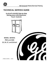 Ge Refrigerator Technical Service Manual Manualzz Com