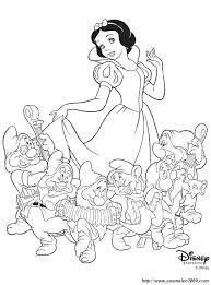 Colorare Biancaneve Disegno La Principessa Ei Sette Nani