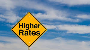 Image result for picture of rates going up