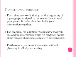 transitional sentences transitional words for beginning essays research paper service