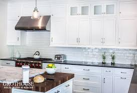 gallery of white shaker kitchen cabinets with wood countertops and farmhouse satisfying 6