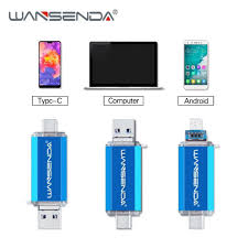 wansenda usb 3 0 usb flash drive high speed otg pen 16gb 32gb 64gb 128gb 256gb pendrive 2 in 1 micro stick dual