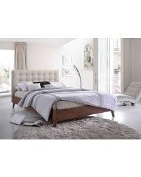 modern wood platform bed. Brilliant Modern Carson Carrington Baxton Studio Alinia Midcentury Upholstered Walnut  Brown Wood Platform Bed To Modern I
