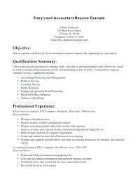 Assistant Accountant Cover Letter Entry Level Accounting Jobs Resume