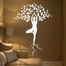 Small Picture Aliexpresscom Buy Tree Wall Decals Art Gymnast Decal Yoga