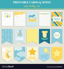 Baby Boy Card Set For Birthday Baby Shower Party