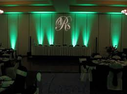up lighting ideas. green uplighting and a gobo monogram rentmywedding great gatsby pinterest wedding dance floors weddings up lighting ideas