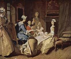 thoughts on the education of daughters  domestic scene of a mother teaching four children surrounded by four servants the mother
