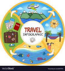 Travel Flow Chart Circular Travel Infographic Flow Chart