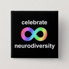 Celebrate neurodiversity pinback button   Zazzle.com