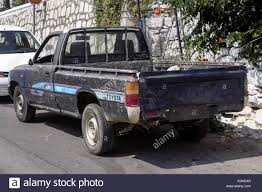Old Toyota Pickup Truck with no License Plate, Crete, Greece Stock ...
