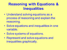 16 reasoning with equations inequalities the common core comes to arkansas or teaching new algebra i