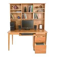 wooden writing desk bookcase in natural solid cherry maple wood with hutch plans