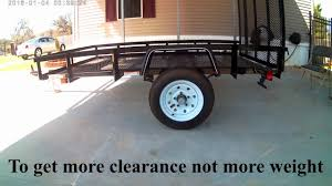 my 5 x 8 carry on trailer axle flip