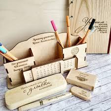 Подарок <b>учителю</b>. <b>Набор канцелярии</b> из дерева для <b>учителя</b> ...