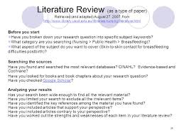 Systematic review as a research method in post graduate nursing