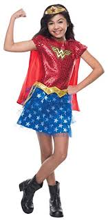 Rubieu0027s Girlu0027s Wonder Woman Tutu Dress Funny Theme Kids Superhero Costume,  Child S (4