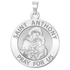 saint anthony round religious medal exclusive