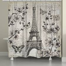 Laural Home Paris In Bloom Shower Curtain In Grey in 2020 | Paris bathroom  decor, Paris bathroom, Laural home