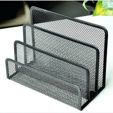 desk letter holder hotel home office compact size desktop organizer has 3 compartments with graduated dividers