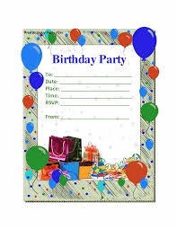 Birthday Party Card Template birthday party invitations template Birthday Party Invitations 1
