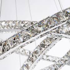 led crystal chandelier lighting lamp re ring light pendant lamparas colgantes abajur luminaire modern ceiling fixtures lampe