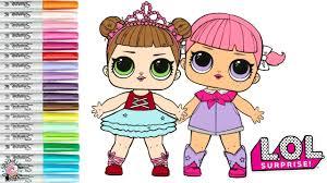lol surprise coloring book page color swap line dancer and center se