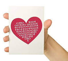 Amazon Com Valentines Day Card Binary Code Heart 5x7