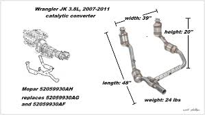 jeep wrangler jk to present how to replace catalytic figure 1 3 8l catalytic converter assembly